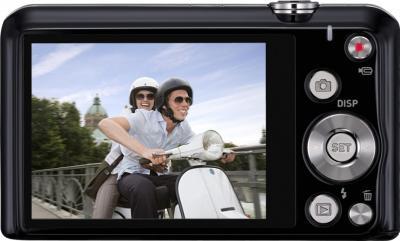 Компактный фотоаппарат Casio Exilim EX-ZS20 (черный) - вид сзади