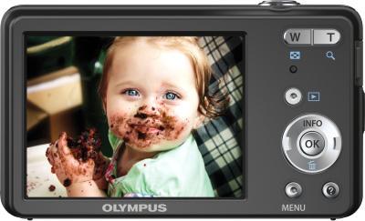 Компактный фотоаппарат Olympus VG-150 Black - вид сзади