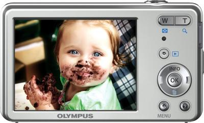 Компактный фотоаппарат Olympus VG-150 Silver - дисплей и элементы управления