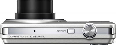 Компактный фотоаппарат Olympus VG-150 Silver - вид сверху