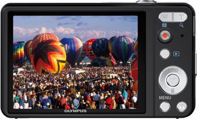 Компактный фотоаппарат Olympus VG-160 Black - вид сзади