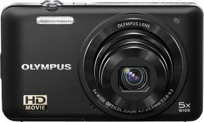 Компактный фотоаппарат Olympus VG-160 Black - вид спереди