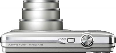 Компактный фотоаппарат Olympus VG-160 Silver - вид сверху