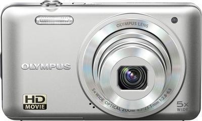 Компактный фотоаппарат Olympus VG-160 Silver - вид спереди