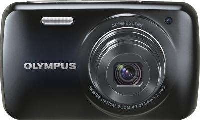 Компактный фотоаппарат Olympus VH-210 Black - вид спереди