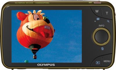 Компактный фотоаппарат Olympus VH-210 Green - вид сзади