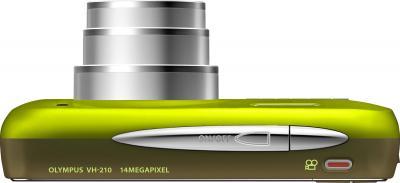 Компактный фотоаппарат Olympus VH-210 Green - вид сверху
