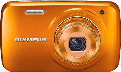 Компактный фотоаппарат Olympus VH-210 Orange - вид спереди