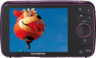 Компактный фотоаппарат Olympus VH-210 Purple - вид сзади