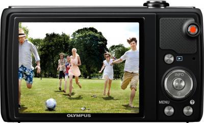 Компактный фотоаппарат Olympus VR-340 Black - вид сзади
