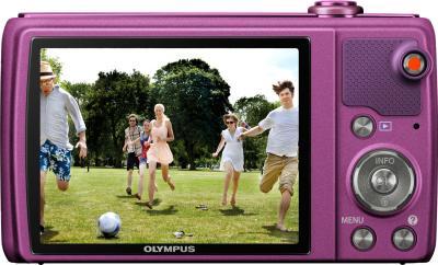 Компактный фотоаппарат Olympus VR-340 Purple - вид сзади