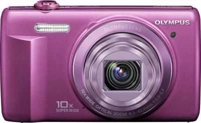 Компактный фотоаппарат Olympus VR-340 Purple - вид спереди