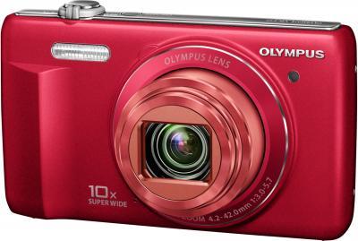 Компактный фотоаппарат Olympus VR-340 Red - общий вид