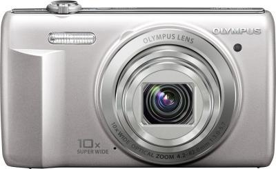 Компактный фотоаппарат Olympus VR-340 Silver - вид спереди