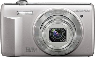 Компактный фотоаппарат Olympus VR-360 Silver - вид спереди