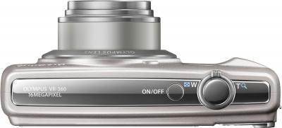 Компактный фотоаппарат Olympus VR-360 Silver - вид сверху