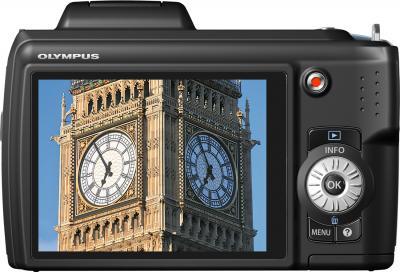 Компактный фотоаппарат Olympus SP-620UZ Black - вид сзади