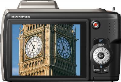 Компактный фотоаппарат Olympus SP-620UZ Silver - вид сзади