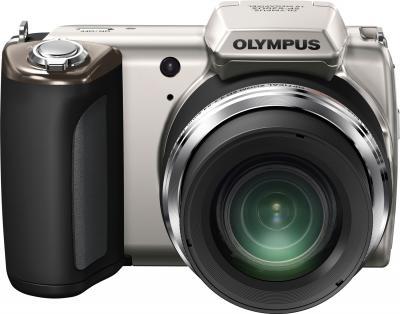 Компактный фотоаппарат Olympus SP-620UZ Silver - вид спереди