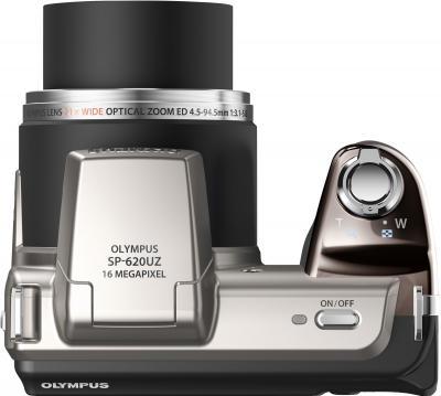 Компактный фотоаппарат Olympus SP-620UZ Silver - вид сверху