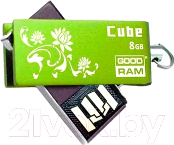 Usb flash накопитель Goodram Cube Spring Edition 8 Gb (PD8GH2GRCUGR9PLUSS)