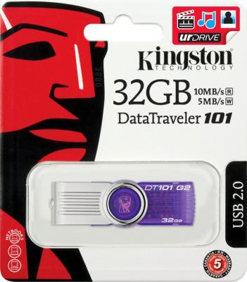 Usb flash накопитель Kingston DataTraveler 101 G2 32 Gb (DT101G2/32GB) - коробка