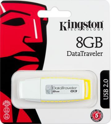 Usb flash накопитель Kingston DataTraveler G3 8 Gb (DTIG3/8GB) - коробка