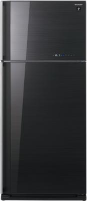 Холодильник с морозильником Sharp SJ-GC700VBK - общий вид