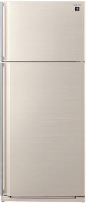 Холодильник с морозильником Sharp SJ-SC700VBE - вид спереди
