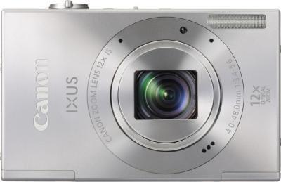 Компактный фотоаппарат Canon IXUS 500 HS Silver - Вид спереди