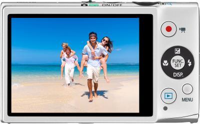 Компактный фотоаппарат Canon IXUS 500 HS Silver - Вид сзади