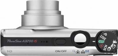 Компактный фотоаппарат Canon PowerShot A3200 IS Silver - Вид сверху