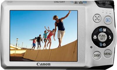 Компактный фотоаппарат Canon PowerShot A3200 IS Silver - Вид сзади