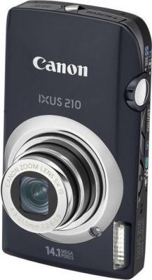 Компактный фотоаппарат Canon Digital IXUS 210 IS (PowerShot SD3500 IS) Black - Вид спереди