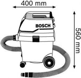 Профессиональный пылесос Bosch GAS25 - схема