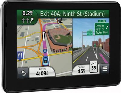 GPS навигатор Garmin nuvi 3590LMT Европа - вид сбоку