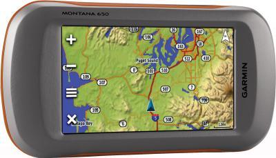 Туристический навигатор Garmin Montana 650 - вид спереди