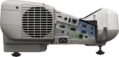 Проектор Epson EB-475W - вид изнутри (разъемы)