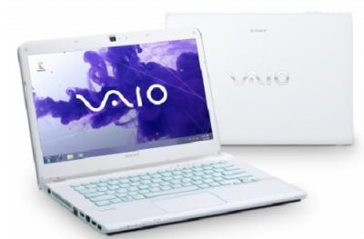 Ноутбук Sony VAIO SVE14A1V1RW  - Вид спереди и сзади