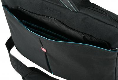 Сумка для ноутбука Continent CC-01 (черный/голубой) - вид сверху
