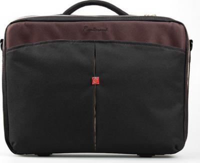 Сумка для ноутбука Continent CC-02 (черный/коричневый) - общий вид