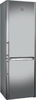 Холодильник с морозильником Indesit BIA 18 NF X H - общий вид