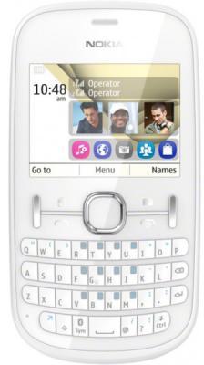 Мобильный телефон Nokia Asha 200 White - общий вид