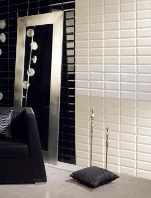 Плитка для стен кухни Monopole Negro Brillo Bisel М042 (300x100)