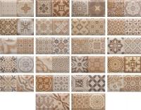 Декоративная плитка для кухни Monopole Antique Marron (200x100) -