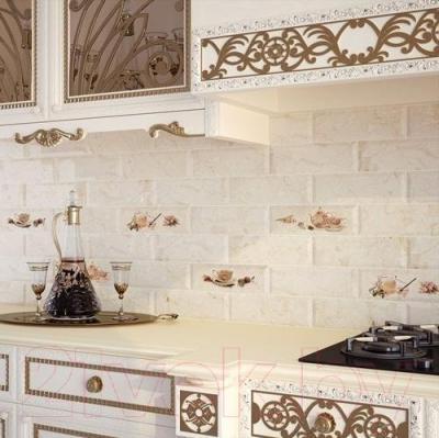 Декоративная плитка для кухни Monopole Bonjour Tea Marfil М097 (300x100)