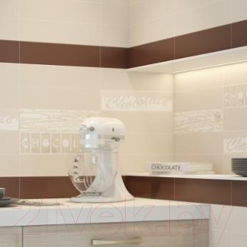 Декоративная плитка для кухни Monopole Chocolate Alpes Latte (400x100)