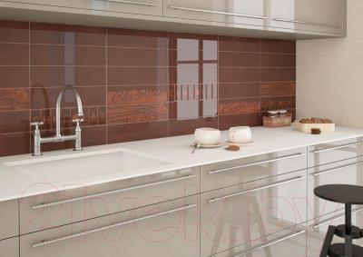 Декоративная плитка для кухни Monopole Chocolate Chocolatier M159 (400x100)