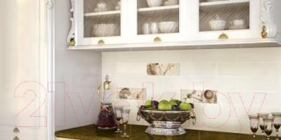 Декоративная плитка для кухни Monopole Praga Petra Crema (400x100)