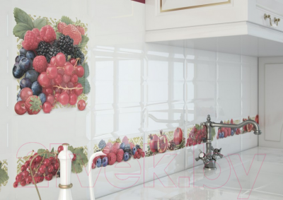 Декоративная плитка для кухни Monopole Tutti Frutti Melagrana (300x100)